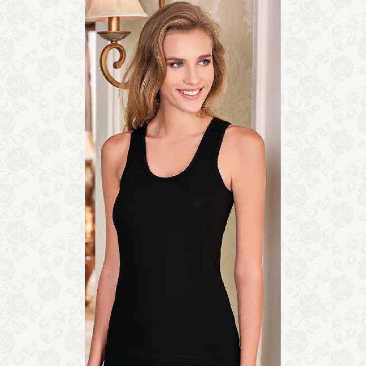 Майка женская berrak, цвет черный с фото