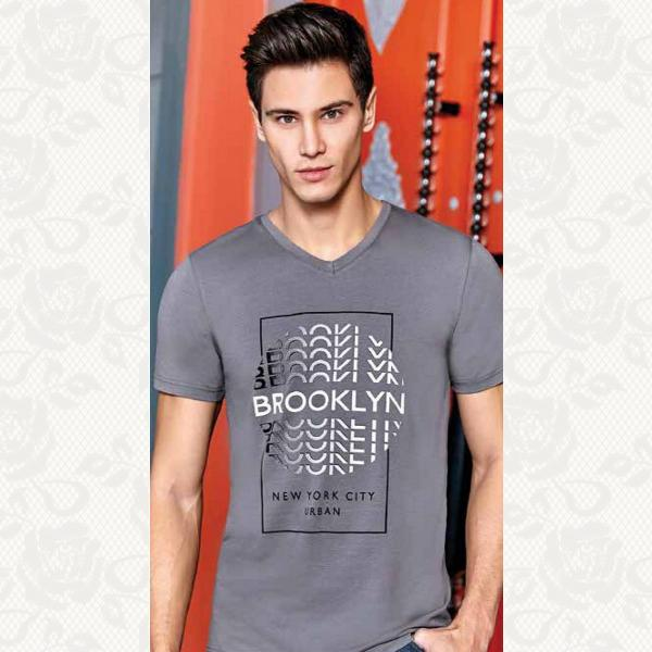 Мужская футболка, цвет серый, 4060