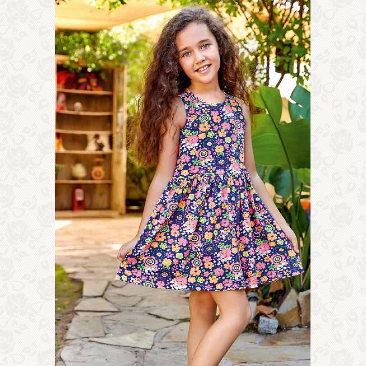 Домашнее платье для девочки, цвет синий с фото