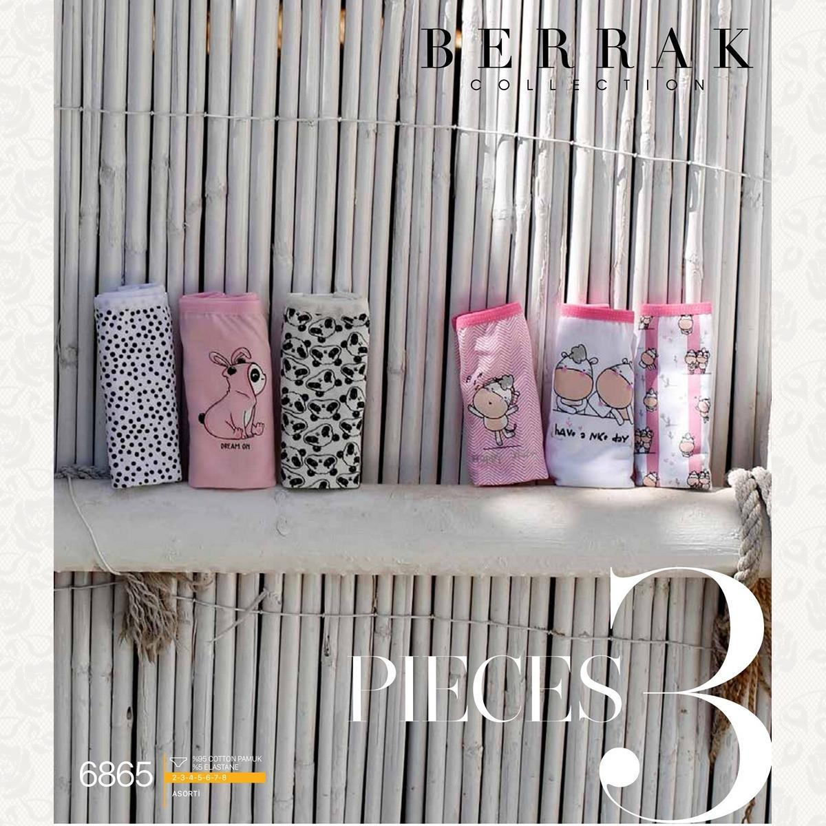 Трусики для девочки, цвет стандарт с фото, 3 шт.
