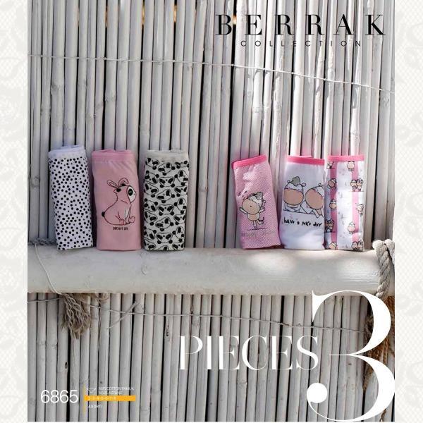 Трусики для девочки, цвет стандарт с фото, 3 шт., 6865