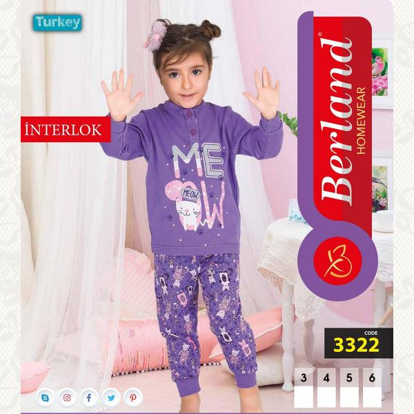 Домашний костюм для девочки, цвет стандарт с фото, 3322