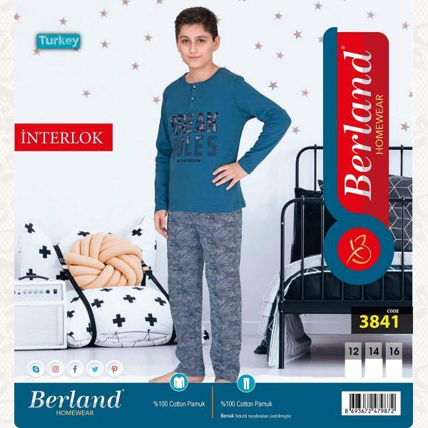 Домашний костюм для мальчика, цвет стандарт с фото, 3841