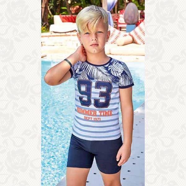 Домашний комплект для мальчика, цвет синий с фото, 5372