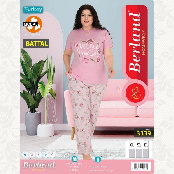 Домашний костюм, цвет светло розовый с фото, 3339