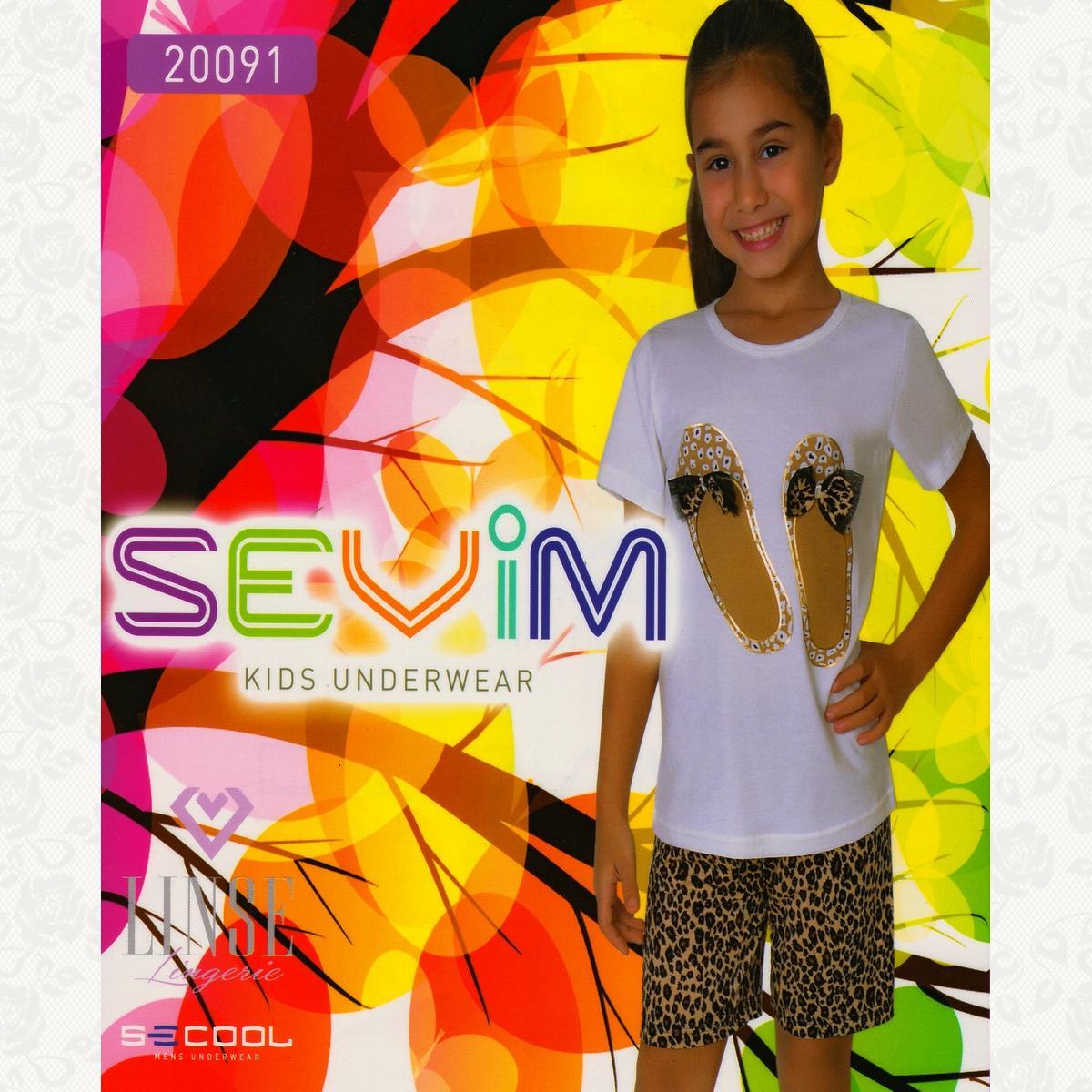 Комплект девичий с футболкой и шортиками, цвет молочний с фото, 2 шт.