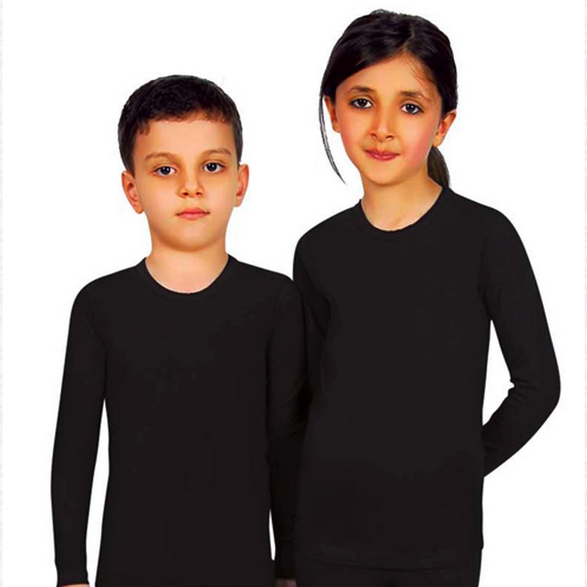 Термокофта для мальчиков и девочек.в упаковке две штуки одного размера. , цвет черный, 2 шт.