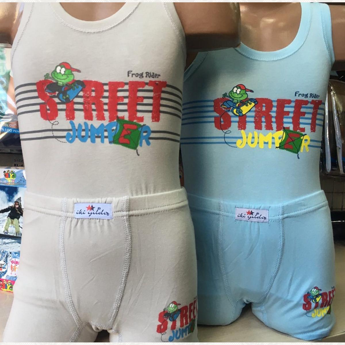Комплект маека с боксерами для мальчика, цвет ассорти, 6 шт.