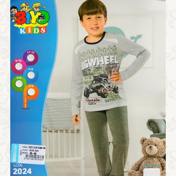 Пижама для мальчика, цвет серый, 5 шт., 5530