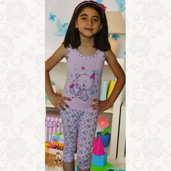 Пижамка для девочек, цвет ассорти, 4031